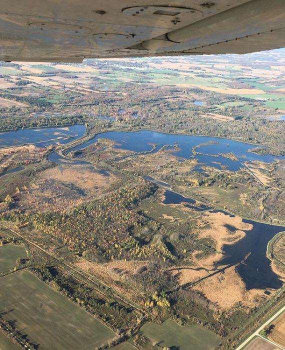Hullett Marsh Provincial Wildlife Area. © DUC