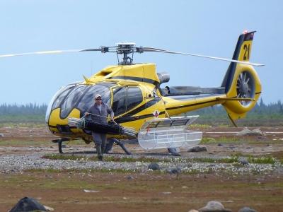 Image of helicopter. Credit: Lauren Crawshaw