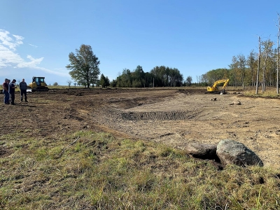 Image of pond construction in Ontario