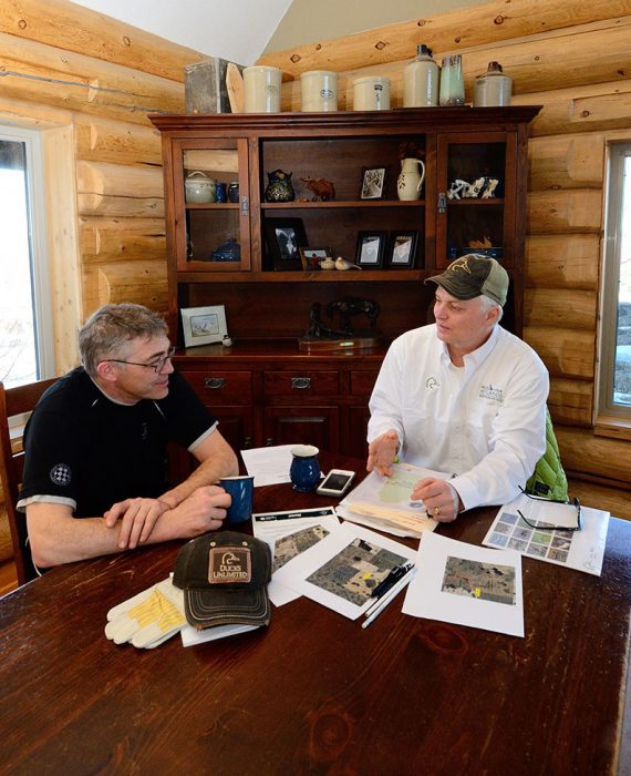 At the kitchen table, farm gate or in the field, DUC's conservation staff work with farmers and landowners everyday to find the right programs that align with their conservation and business goals.